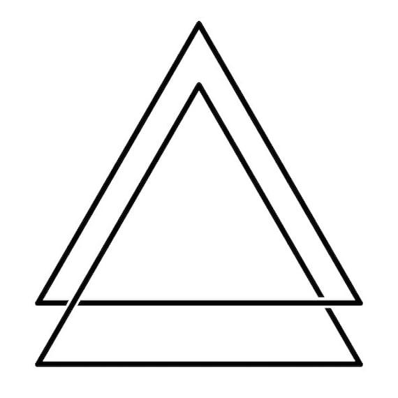 Tatouages Temporaires Double Triangle Etsy