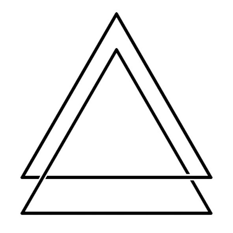 Sets triangle temporary tattoos image 0