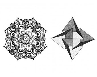 Sets Mandala temporary tattoos