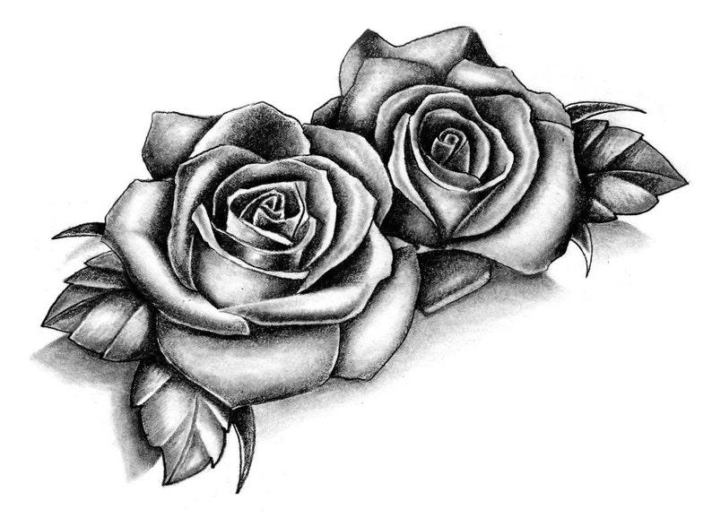 Sets Roses temporary tattoos image 0