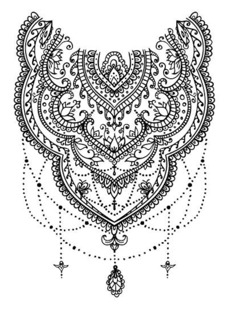 Sets Lace Temporary Tattoos image 0