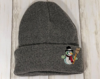 ca342ab4 Snowman embroidered stocking cap, can be personalized, 4 colors to choose  from
