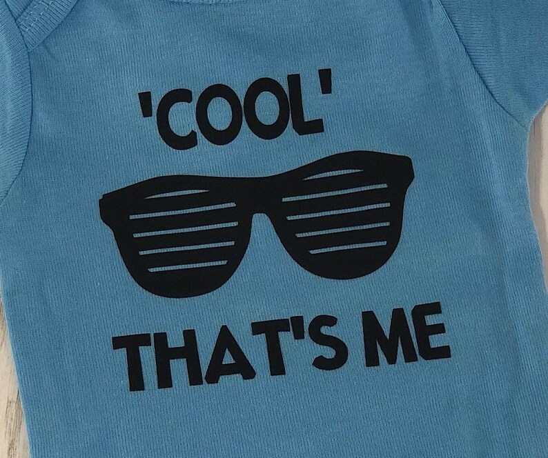 Baby bodysuit with Cool That/'s me and sunglasses baby girl boy or unisex perfect for a baby shower gift