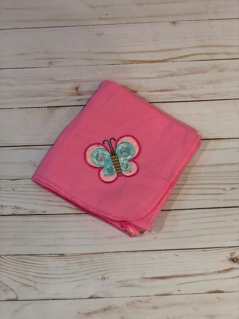 great Christmas gift or new mom gift for a  baby shower 3 piece baby girl gift set with cute butterfly applique