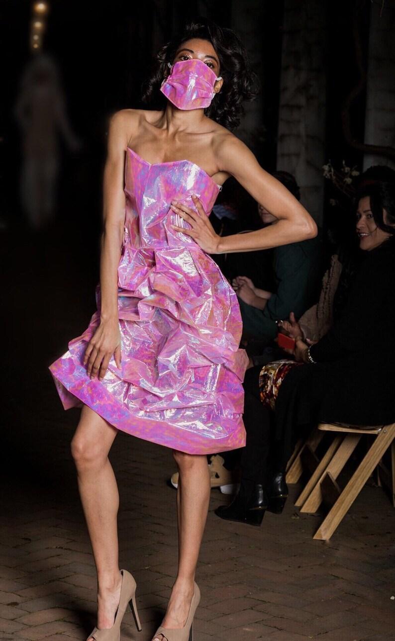 466dc12dac NURSE TYRA Holographic Dress Corset Top Women s