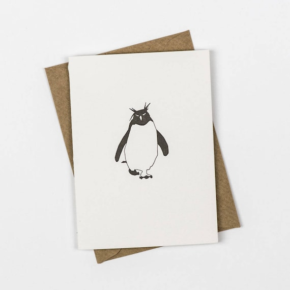 penguins everywhere handcrafted Note Cards Penguins personalization may be added Set of 10