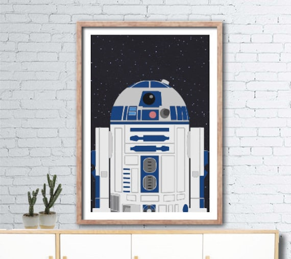 graphic relating to R2d2 Printable identified as Printable Star Wars R2D2 poster - 60cmx90cm - boys area wall artwork - Immediate Electronic Obtain