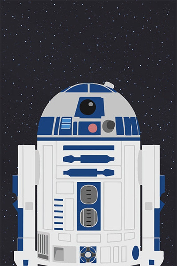 image regarding R2d2 Printable known as Printable Star Wars R2D2 poster - 60cmx90cm - boys area wall artwork - Prompt Electronic Down load