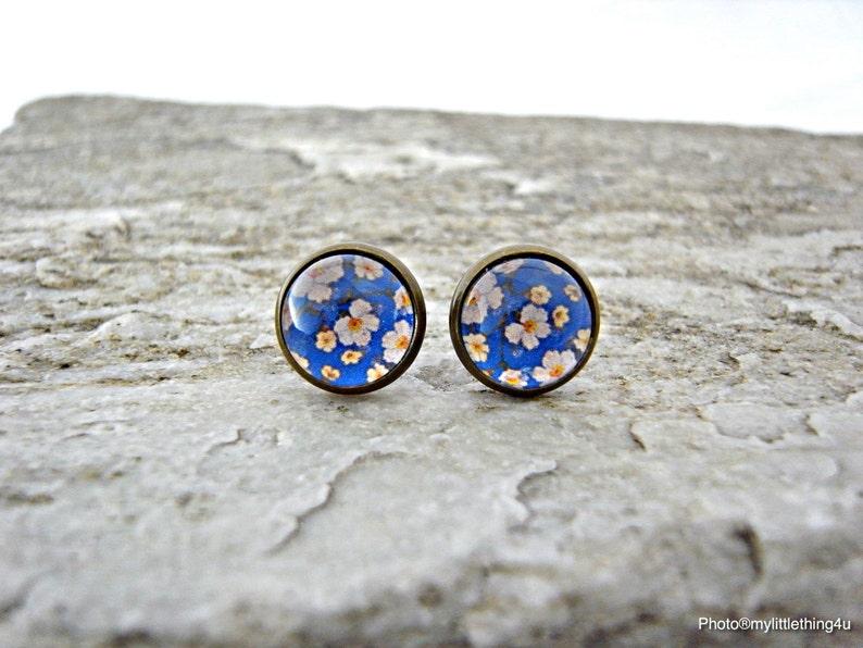 Antique Earrings Floral Stud Earrings Pattern 2 Floral Earrings Floral Images Earring Spring Jewelry Flower Earrings Silver Earrings
