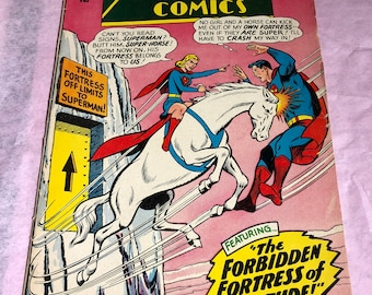 Vintage Action Comics - Apr #336- The Forbidden Fortress of Solitude - Supergirl - Superman