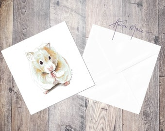 Hamster Greeting Card / Blank Inside