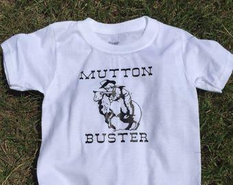 Mutton Bustin Shirt, Mutton Bustin Toddler Shirt, Mutton Bustin, Little Cowboy