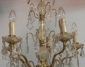 Ver Nice French Cut Crystal Chandelier