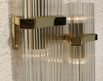 A Set Of 2 Peaces Unic Murano Sconce, Designed By Sciolari