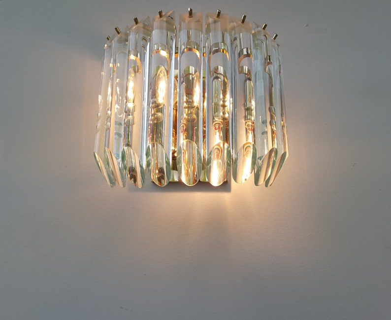 A vintage mid century modernist murano sconce etsy