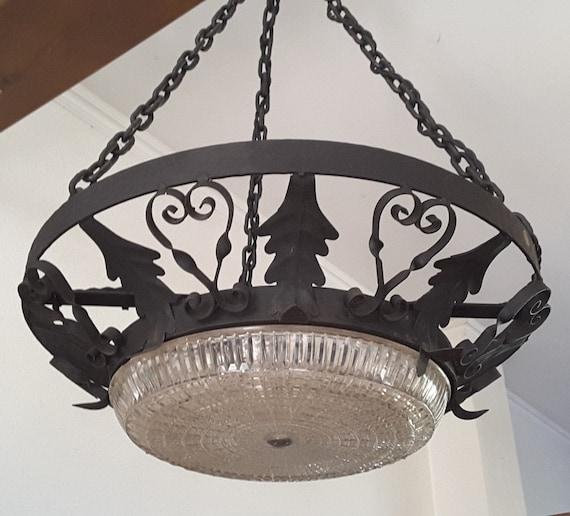 Custom Spanish Chandelier: Fine Art Hand Forged Iron Lighting