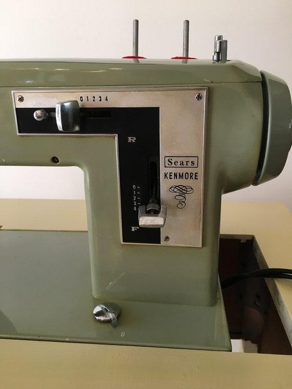 Vintage 4040 Kenmore Sewing Machine WTable Etsy Enchanting Antique Kenmore Sewing Machine With Cabinet