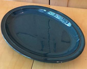 Denby Vintage Oval Serving Platter Green