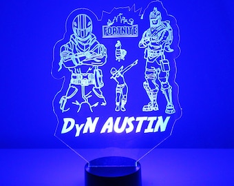 Fortnite Personalized LED Night Light Lamp - Engraved FREE Light Up 3D  Night Light - LED HandMade by Mirror Magic - 16 Colors with Remote 2e61e1ae484