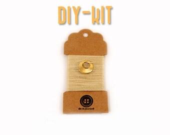 DIY jewelry supply Kit - diy crochet bracelet - DIY Kit - diy gift - stainless steel charm - Jewelry supplies - jewelry making - MudenoMade