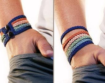 Crochet bracelet pattern - Crochet pattern - crochet jewelry pattern - diy gift ideas - stacking bracelet - instant download - PDF
