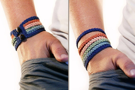 Crochet bracelet pattern - Crochet pattern - crochet jewelry pattern ...