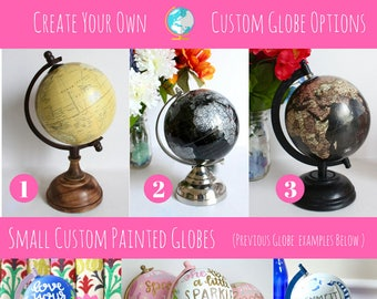 Custom Painted Globe, Small