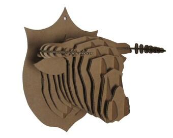 Trophy Bull Head cardboard Kit DIY