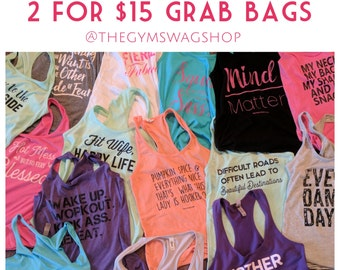 SALE 2 for 15 Grab Bag Cotton Racerbacks