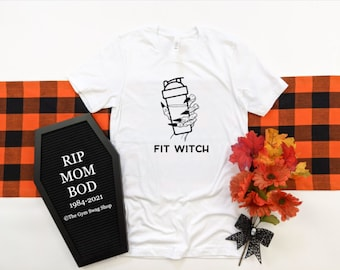 Fit Witch / fall shirt / mom shirt / Halloween tee / Funny workout tee