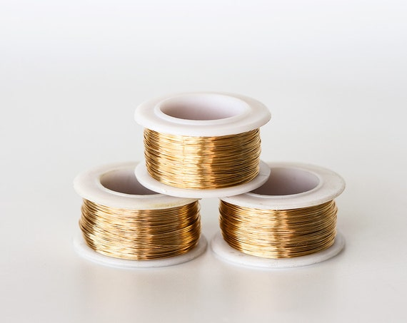 1626 gilt jewelry wire 28 gauge gold wire 03mm golden wire keyboard keysfo Image collections