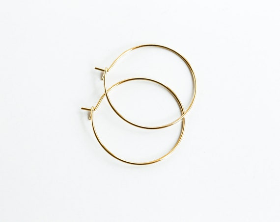10 Gold Plated Earring Eye Pin Earring Finding Wire 30mm