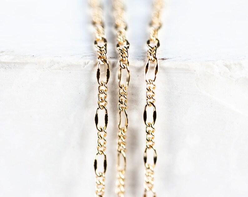 2c1cc341e53 2409 Chaine maille figaro Bijoux chaîne Plaqué or chaîne