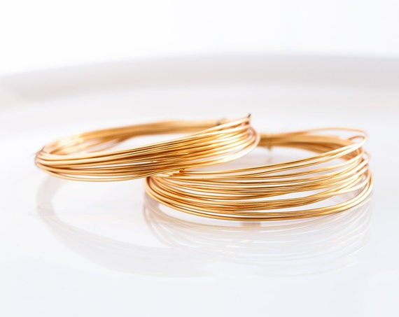 2962 Gold Wire 16 Gauge Golden Jewelry Wire 1 25 Mm Non Etsy