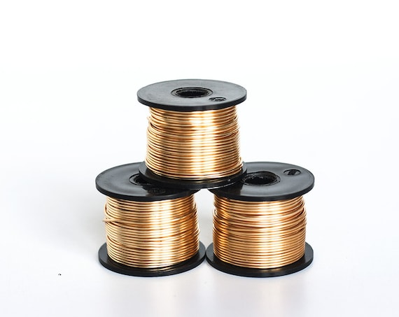 2438 Gilt Thick Wire 18 Gauge Gold Jewelry Wire 1 Mm Copper Etsy