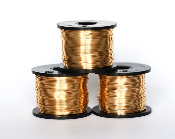 21811 Gilt Wire 22 Gauge Gold Jewelry Wire 0 6mm Copper Wire Etsy