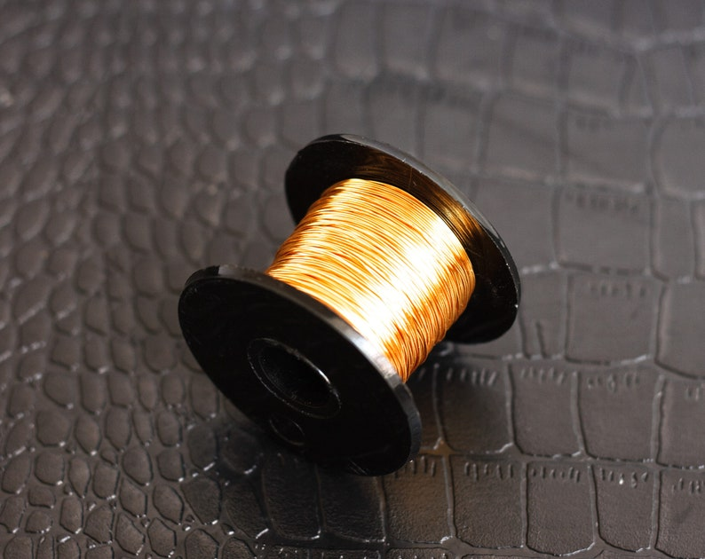 1849 Gold Wire 0 315mm Gilt Jewelry Wire 28 Gauge 0 3mm Golden Etsy