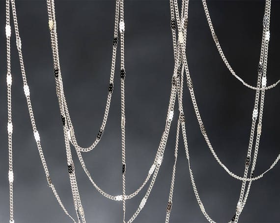 2//4m Unfinished Woven Curb Chain Bulk Jewelry Necklace Findings Wholesale PWCH
