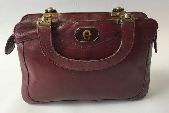 großer Rabatt online hier gute Qualität ON SALE Vtg Etienne Aigner Bag Oxblood Leather Purse
