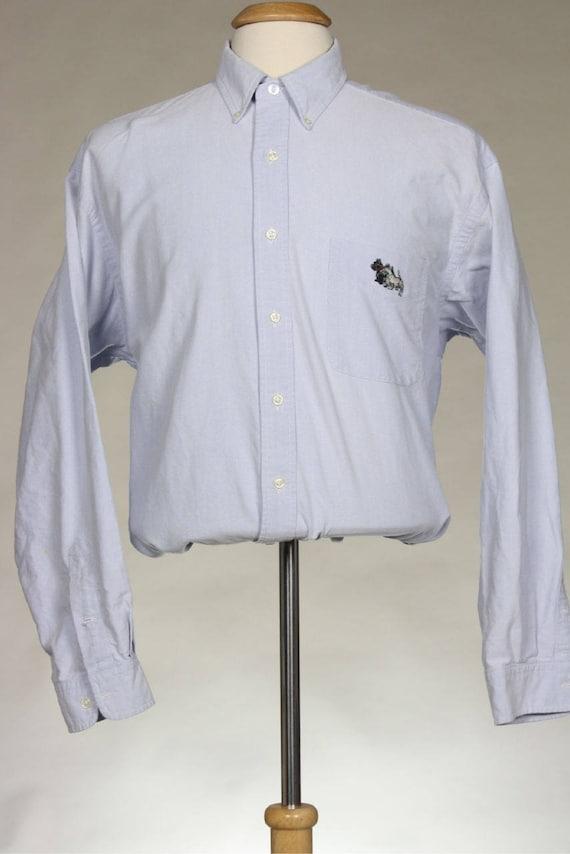 ON SALE Vtg Ralph Lauren Blake Blue Button Down Dress Shirt XL