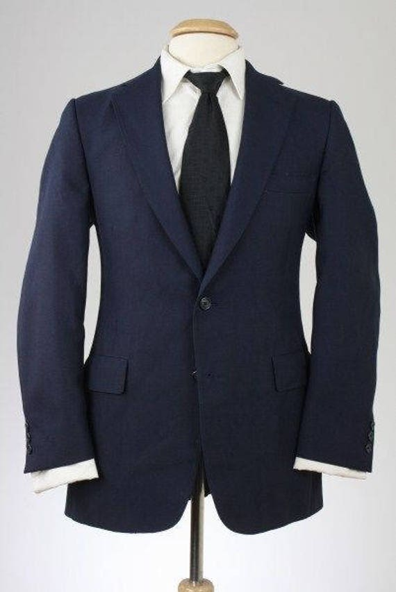 On Sale Vintage Austin Reed Navy Wool 2 Button Blazer Jacket Etsy