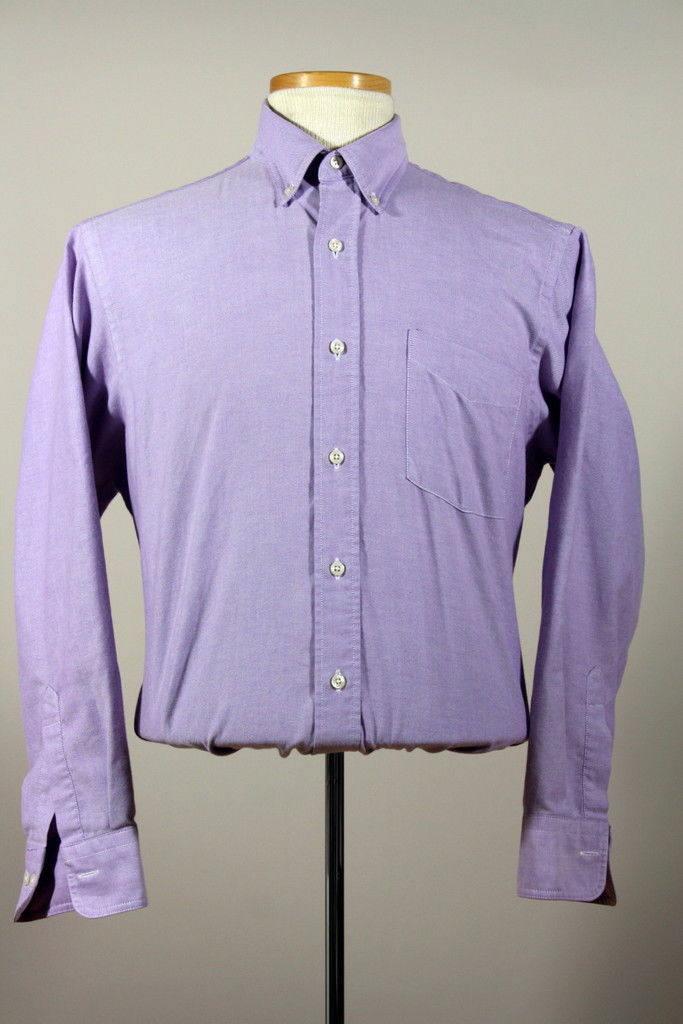 a42fccabcdc9 SUR Vtg vente Ralph Lauren chemise Chaps violet Btn bas robe chemise Lauren  16 dc320f