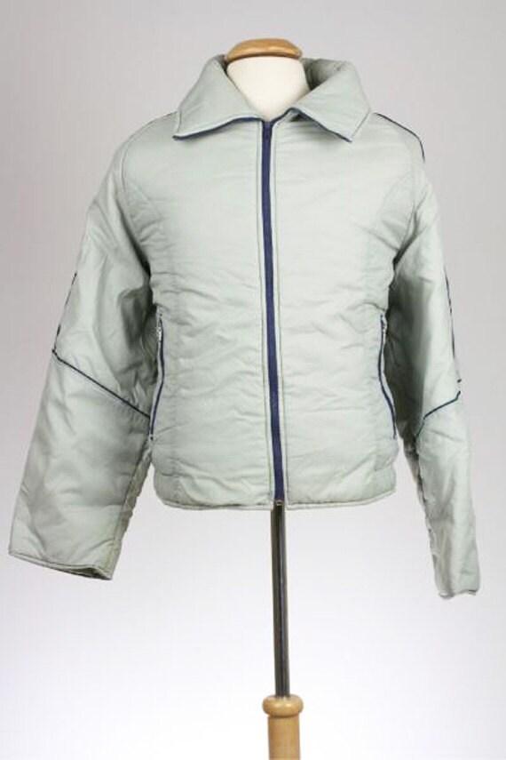 ON SALE  Vintage 80s Sears Gray Puffy Ski Coat/Jac
