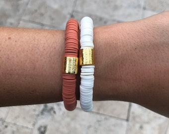 Texas Longhorns Hook em  Orange and white Dainty Adjustable Cording Bracelet