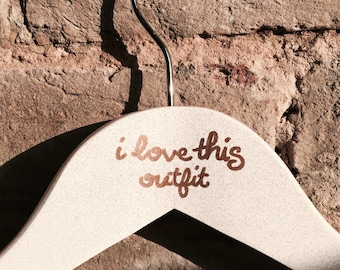 I Love This Outfit glitter clothes hanger - gifts for her, glitter hangers, gift for mum decorated hanger best friend gift cheer up gift