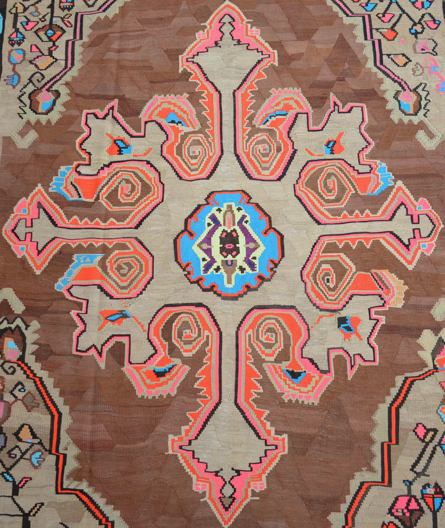 6'3'' X 11'9'' Turkish Kilim Rug Hand