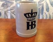 0.5 L HB Hofbrauhaus Beer Original King 7 Salt Glaze Stoneware Mug Stein