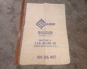 Vintage Sack, Grain Feed Sack, Cotton Sack Bag