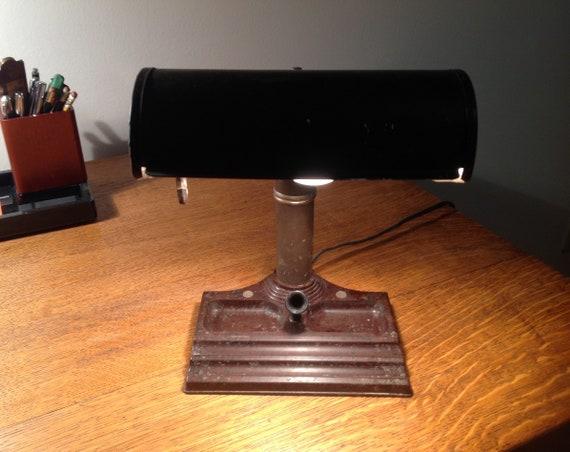 Lampe De Bureau Des Banquiers Avocat Antique Vintage Avec Etsy