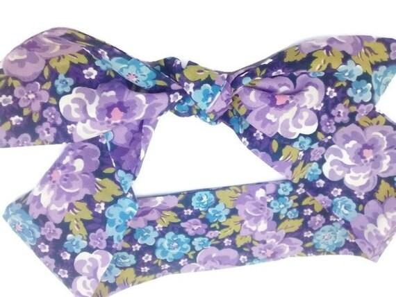 Purple Head Scarf For Women Top Knot Head Wrap Retro Dolly  41dd2b6f929